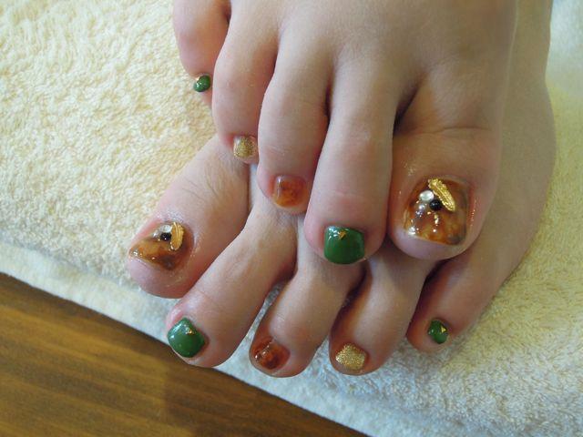 Tortoiseshell Foot Nail_a0239065_13481494.jpg