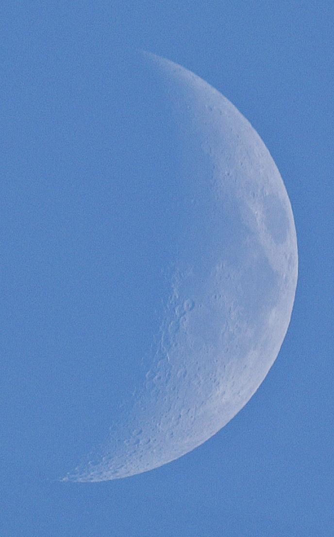 2015年9月19日の月、土星とのプチランデブー(月齢6)_e0089232_18413585.jpg