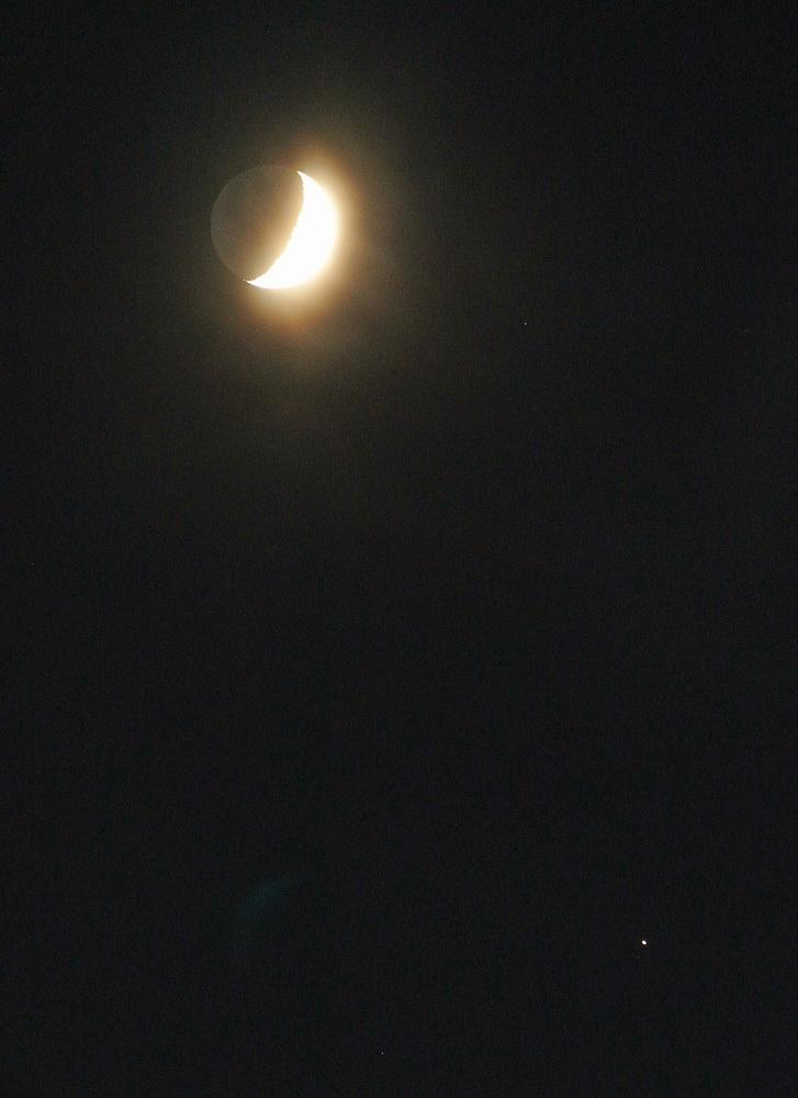 2015年9月19日の月、土星とのプチランデブー(月齢6)_e0089232_18415087.jpg
