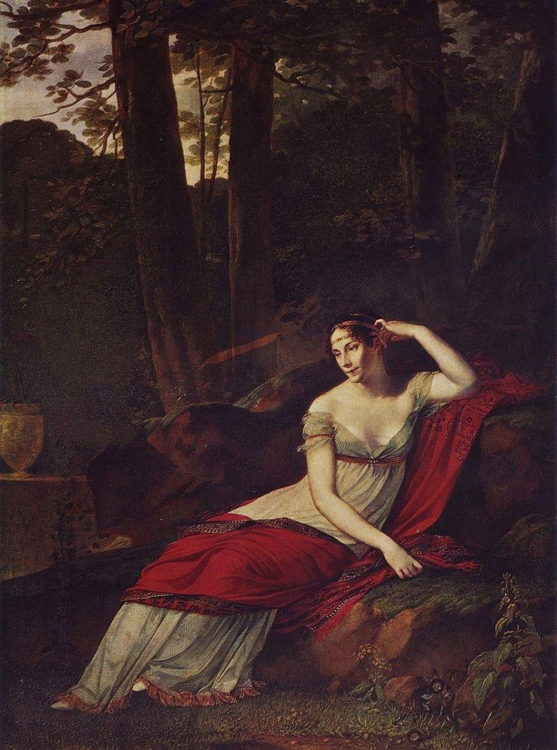 『マルメゾンの庭で腰掛けるジョゼフィーヌ』_e0356356_17070328.jpg