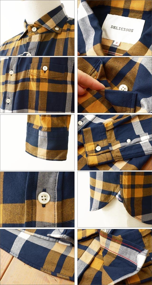 DELICIOUS [デリシャス] Pujol/ B.D チェックネルシャツ [DS0161] MEN\'S_f0051306_11531247.jpg
