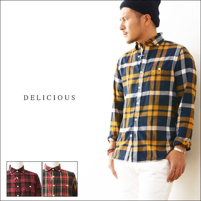 DELICIOUS [デリシャス] Pujol/ B.D チェックネルシャツ [DS0161] MEN\'S_f0051306_11531277.jpg