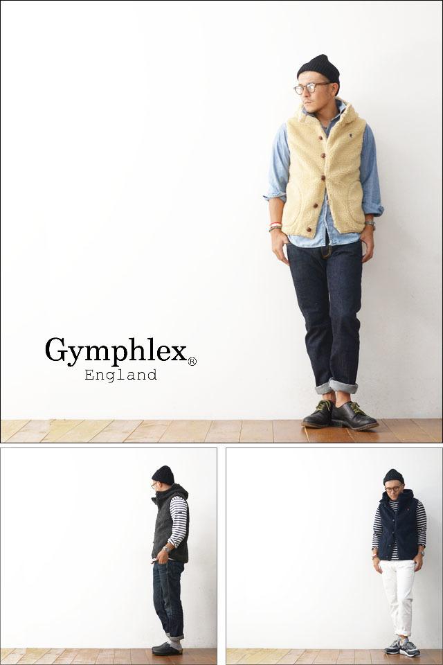 Gymphlex [ジムフレックス] クルミボタン ボアフードベスト [J-1069PL]  MEN\'S_f0051306_12002961.jpg
