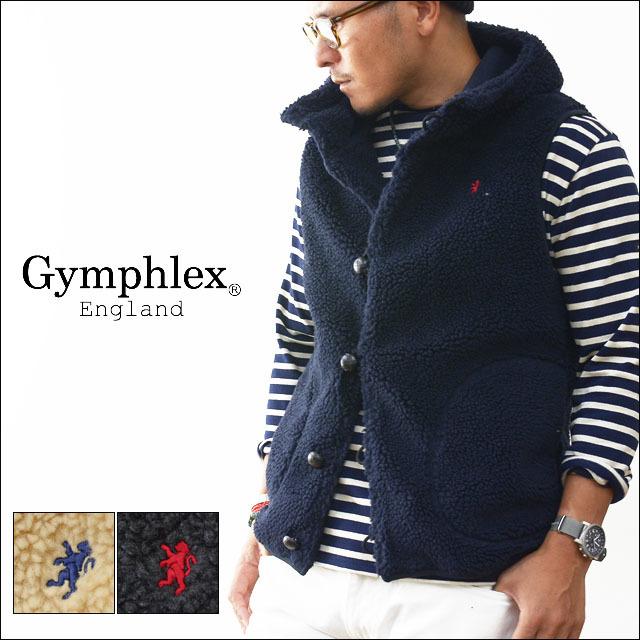 Gymphlex [ジムフレックス] クルミボタン ボアフードベスト [J-1069PL]  MEN\'S_f0051306_12002997.jpg