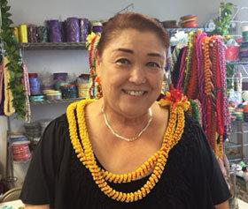 Carole Mito\'s Ribbon lei work shop 2015 キャロル先生ワークショップ2015_c0196240_11080207.jpg