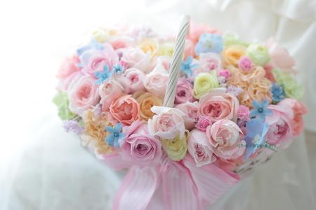 バスケットブーケ 椿山荘東京さまへ お問い合わせはおはやめに_a0042928_1757481.jpg