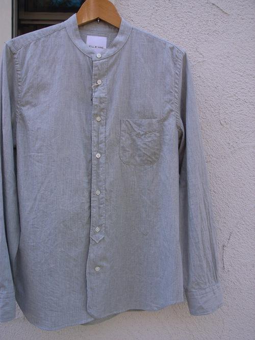 STILL BY HAND インディゴバンドカラーシャツ_d0334060_13323149.jpg