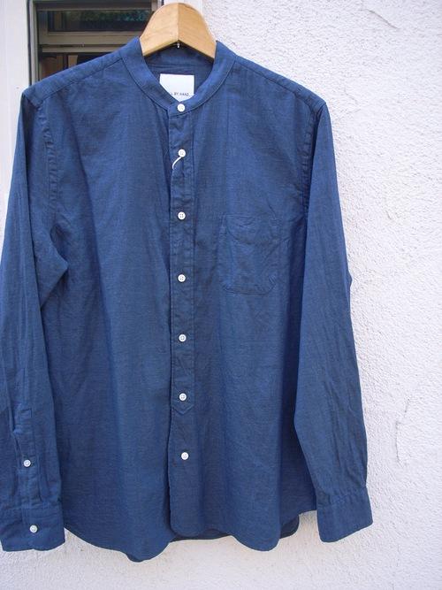 STILL BY HAND インディゴバンドカラーシャツ_d0334060_13335875.jpg