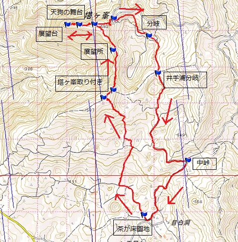 下見登山・・平尾台、塔ヶ峯コース_e0164643_15462784.jpg