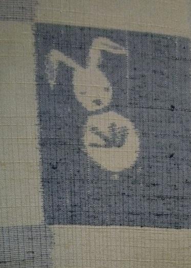 癒し系のうさぎちゃん・市松模様の楽しい十日町紬。_f0181251_11455294.jpg