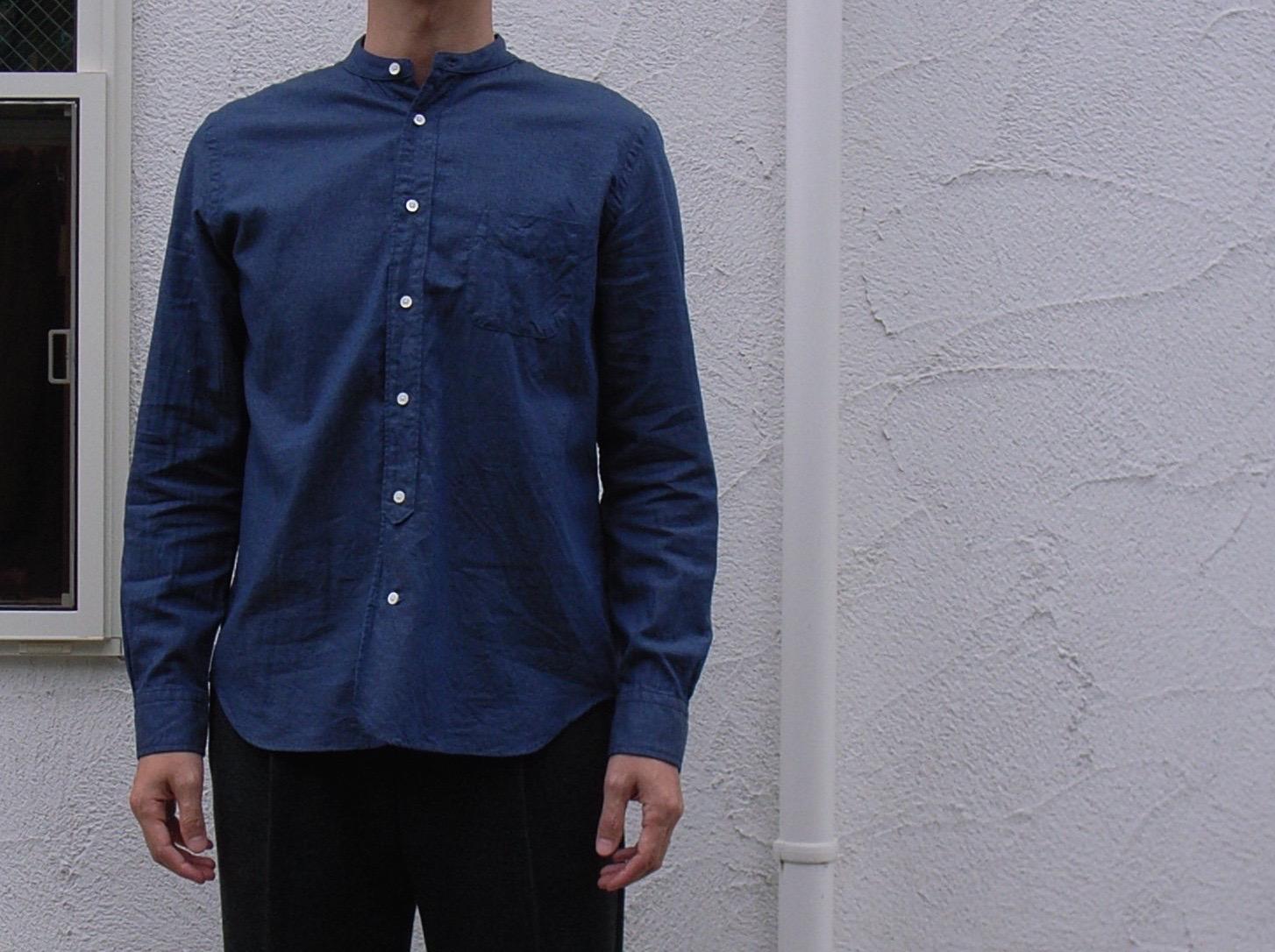 インディゴバンドカラーシャツ と ウール1タックリブパンツ_d0334060_1726118.jpg