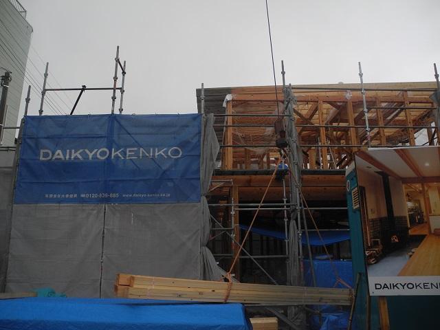 現場の様子(中島の家) その三_c0247768_1555668.jpg