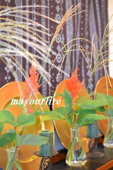 9月 テーブルコーディネート マユールライラ 海吉教室_d0169179_2225248.jpg