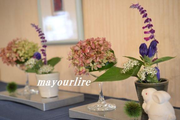 9月 テーブルコーディネート マユールライラ 海吉教室_d0169179_22275347.jpg