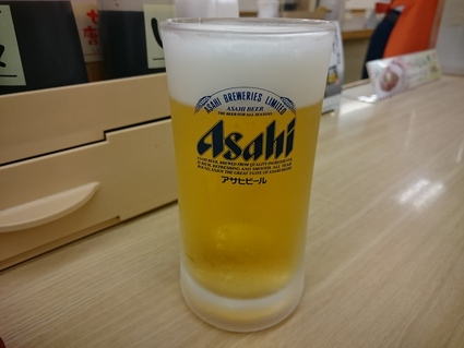 9/24夜勤明け 生ビール¥150×2杯+ソーセージエッグ定食牛皿¥400@松屋_b0042308_17383592.jpg