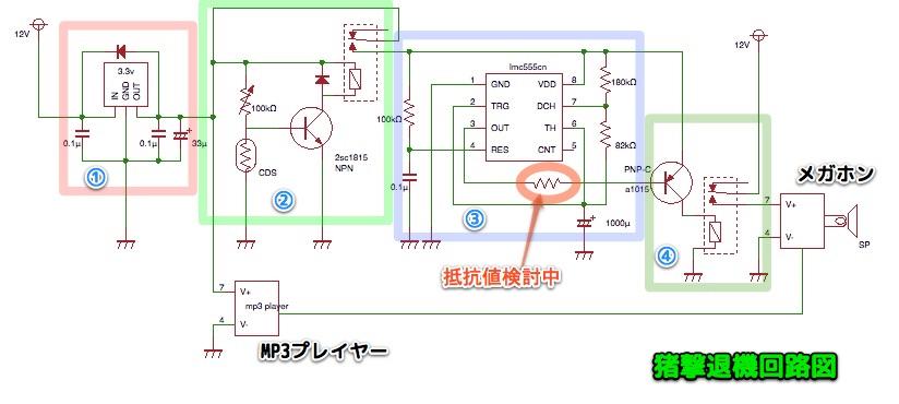 猪撃退機の工作過程・回路図検討_c0063348_2027850.jpg