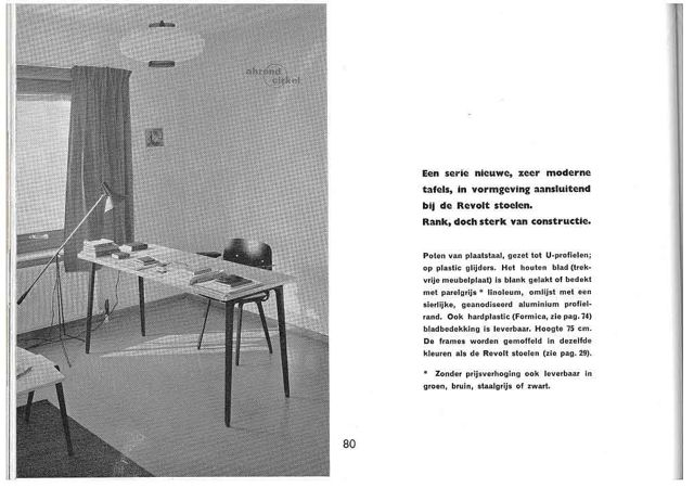 """Friso Kramer Table & Revolt Chair -  Ahrend 55 P80 / vintage Ad\""ってこんなこと。_c0140560_10525390.jpg"