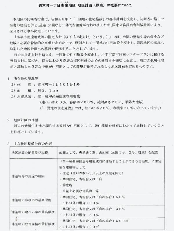 鈴木町一丁目恵泉地区地区計画(原案)と説明会_f0059673_19042992.jpg
