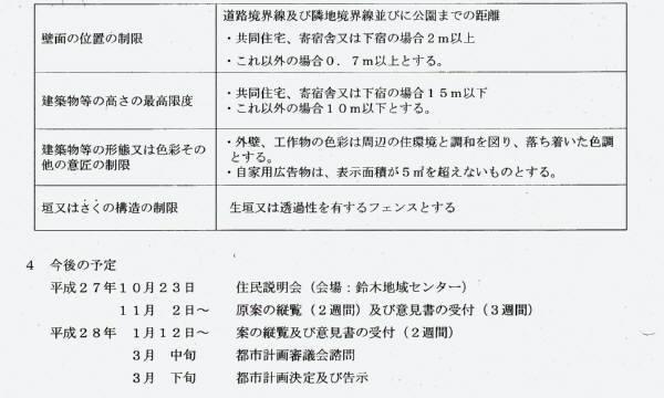 鈴木町一丁目恵泉地区地区計画(原案)と説明会_f0059673_19044443.jpg