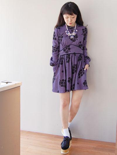 ぶどうワンピ♡by natsumi_f0053343_182945.jpg