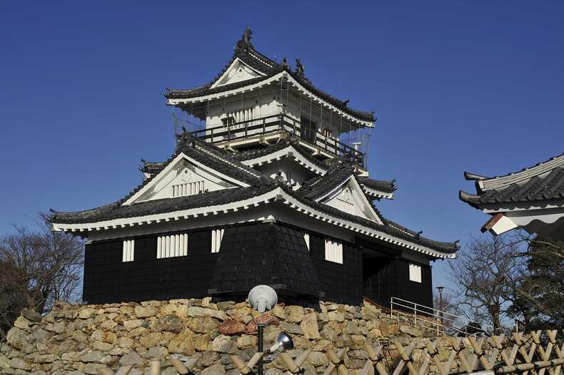 浜松城 その13 : 城と銅像 写真...