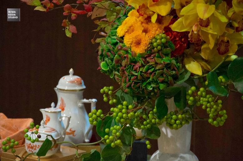 September 28, 2015 テーブルとお花 Table and Flower_a0307186_7381794.jpg