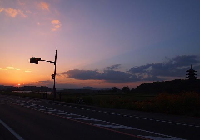 十五夜と夕焼け_d0295818_129843.jpg