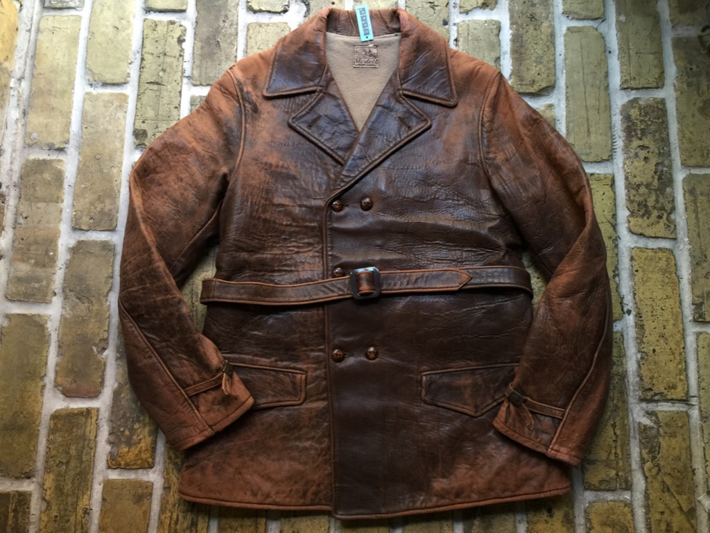 神戸店9/30(水)冬物ヴィンテージ入荷!#4 1930\'s Hercules Mackinaw, 40\'s HorseRiding Leather JKT!!!_c0078587_16103943.jpg