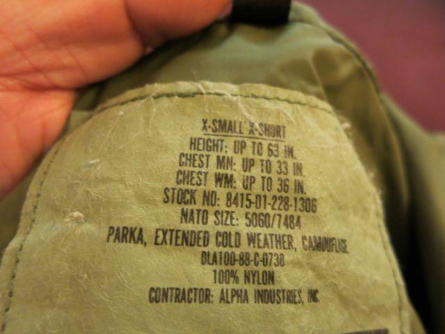アメリカ仕入れ情報#73 U.S ARMY GORETEX PARKA_c0144020_1984280.jpg