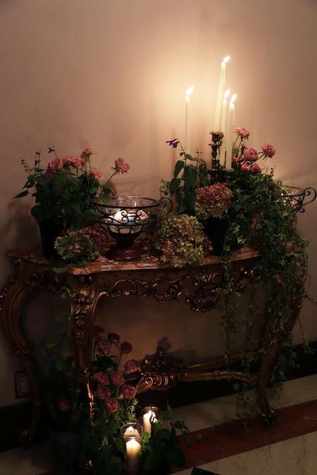 秋の装花 クラシカル&ガーデン風 シェ松尾青山サロン様へ_a0042928_11382869.jpg