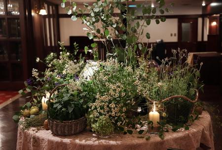 秋の装花 クラシカル&ガーデン風 シェ松尾青山サロン様へ_a0042928_11404826.jpg