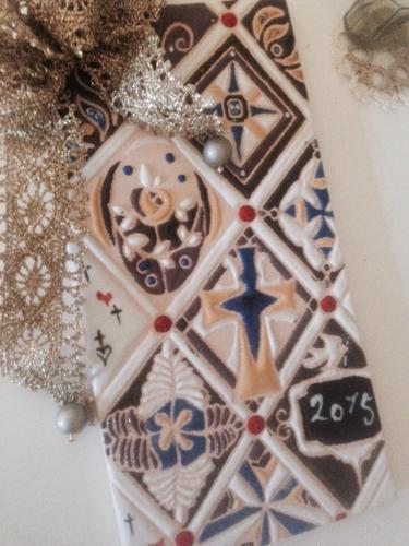 スペインタイルレッスン「クリスマスタイル」_f0149716_10534424.jpg