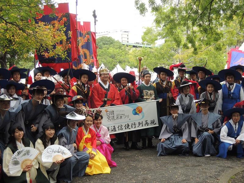 日韓交流おまつり in Tokyo での朝鮮通信使行列の様子をお知らせします_b0280244_15365777.jpg