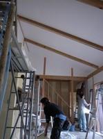 外壁の上塗りが始まりました_d0342155_13450585.jpg