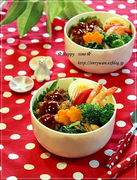 ミニハンバーグ丼弁当♪_f0348032_17465745.jpg