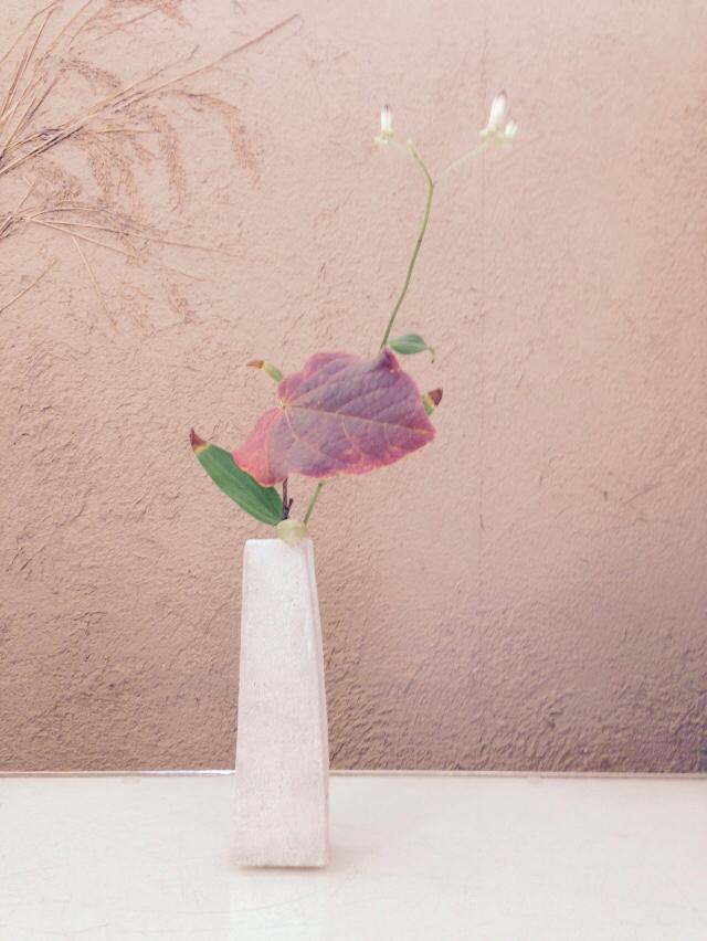 今日の 花器と花_b0132442_17404237.jpg