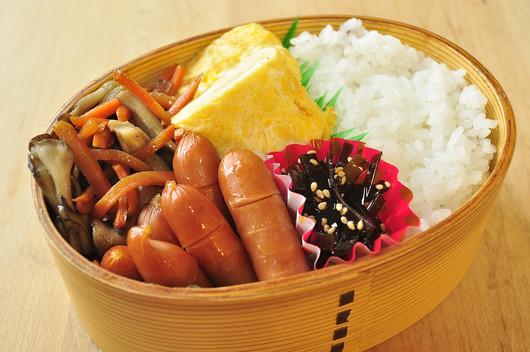 人参と舞茸の炒め煮弁当_b0171098_928409.jpg