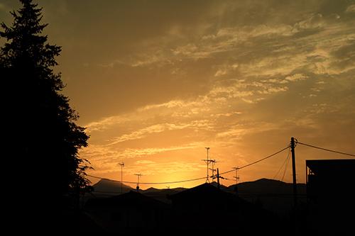 奥多摩方面の夕焼けが綺麗だった!_b0194208_23283731.jpg
