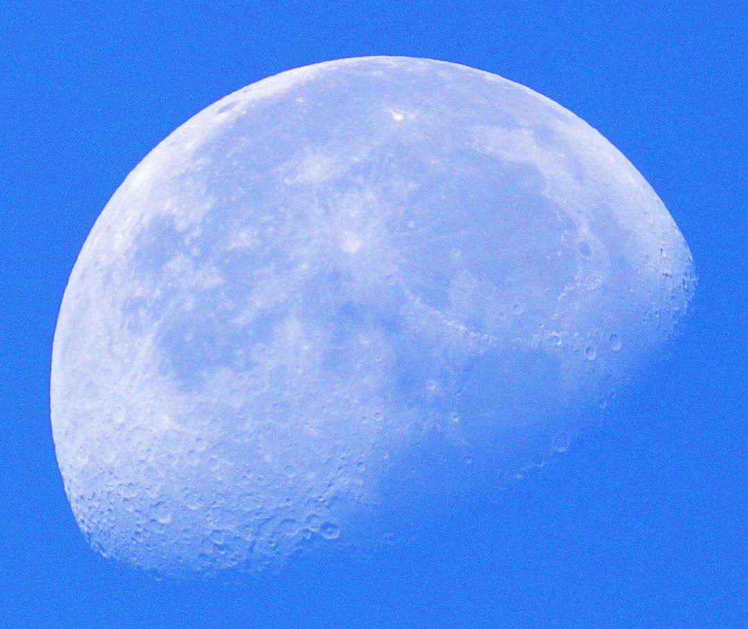 2015年10月3日未明の月(月齢19.3)、金星_e0089232_06344788.jpg