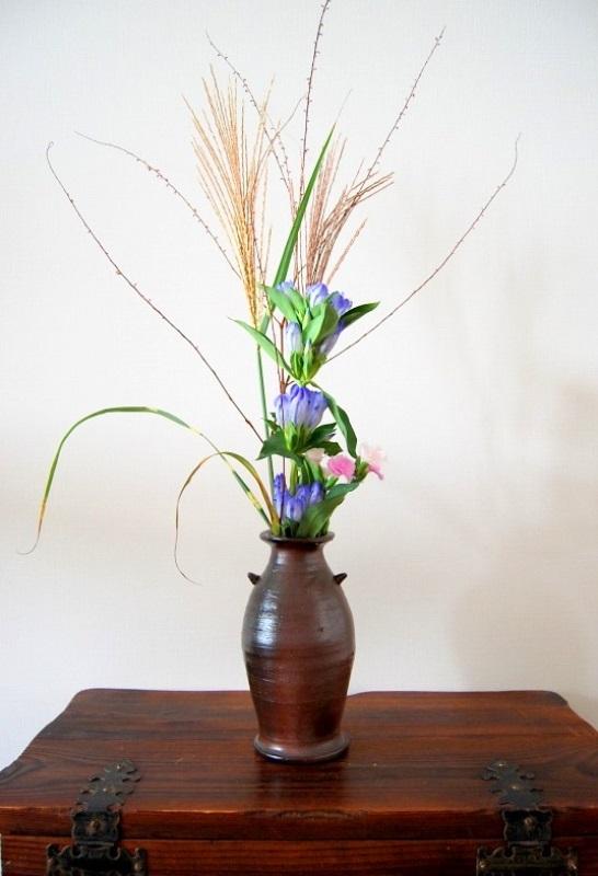 明日香村の秋 りんどうの花 苔の花_b0165872_22151920.jpg