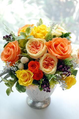 ビタミンカラーのアレンジ!_a0136507_21324938.jpg