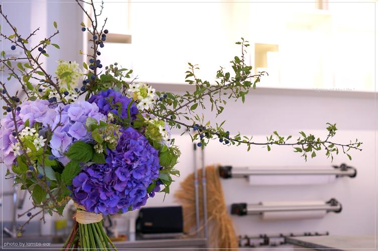 シリルの紫陽花のブーケ_f0151946_0543264.jpg