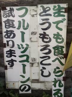 トウモロコシ真っ盛り☆_d0339884_17552338.jpg