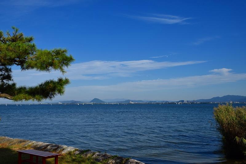 ②『唐崎の夜雨』で名高い唐崎の松(琵琶湖)20151003_e0237645_15173674.jpg