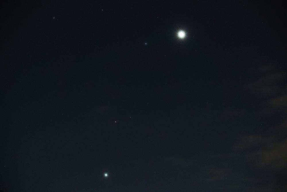 金星・レグルス・火星・木星カルテット(2015年10月7日)_e0089232_06140895.jpg