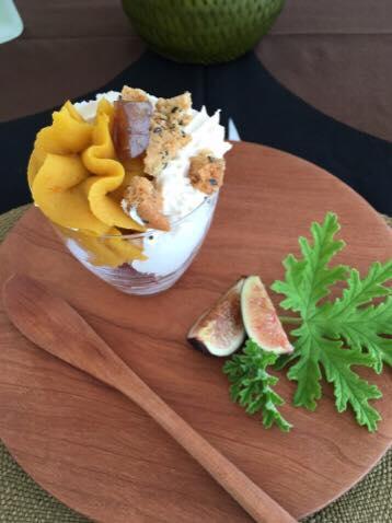 2015年10月料理教室 スーパーキヌアのサラダ スペアリブと冬瓜のモロッコ風 根菜のグラスデザート_e0134337_11461918.jpg
