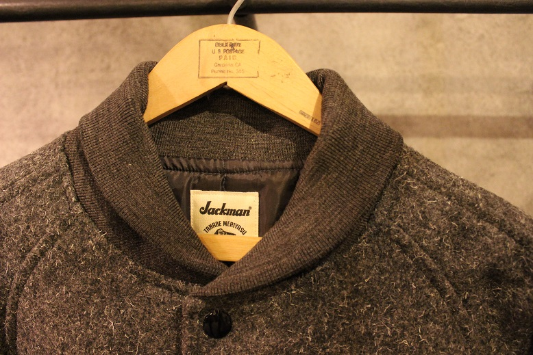 "Jackman ""SWEAT VEST & MELTON AWARD JACKET\"" ご紹介_f0191324_9193994.jpg"