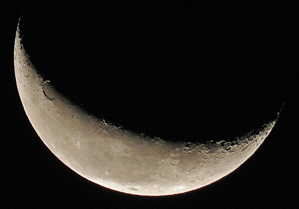 未明の月&地球照、そしてオリオン座(2015年10月8日、月齢24.5)_e0089232_03390554.jpg