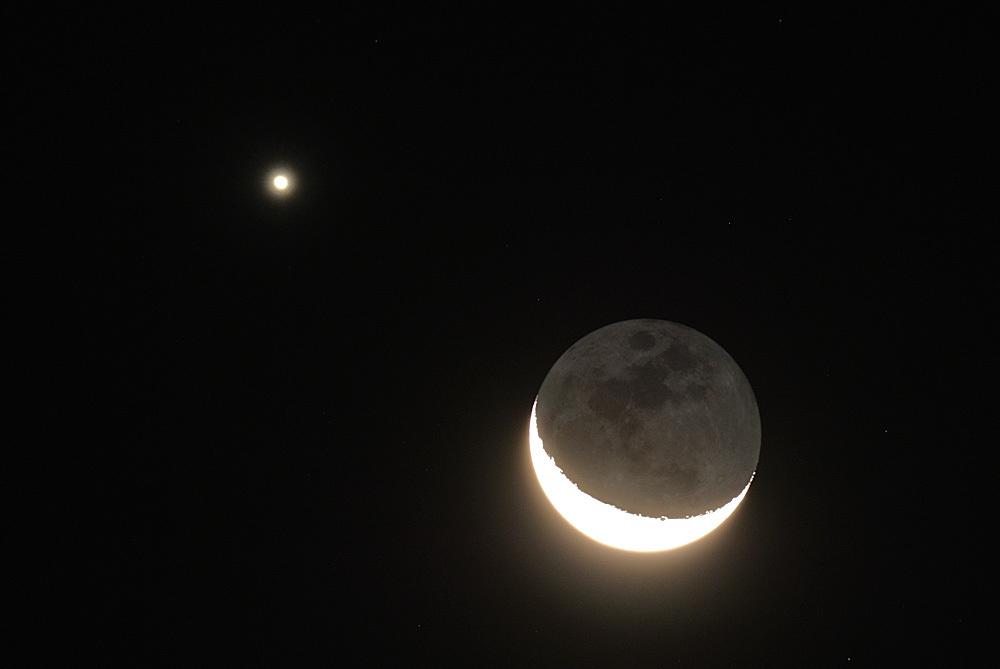 月と金星のランデブー(2015年10月9日、月齢25.5)_e0089232_05162569.jpg