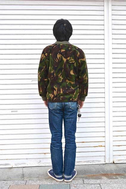 U.K. army DPM camouflage fleece jacket snaps_f0226051_21354328.jpg